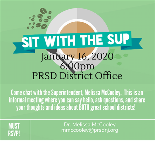 Sit with the Sup January 16, 2020 at 6 pm at the Pinelands District Office
