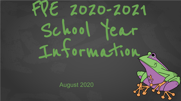 FPE Parent Information SY 2020-21